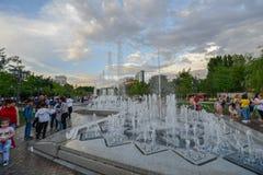 Parque com fontes, Yerevan imagem de stock