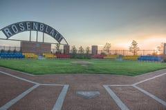 Parque comemorativo para o estádio de Rosenblatt em Omaha Nebraska Fotografia de Stock Royalty Free