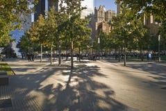 Parque conmemorativo 911 Fotos de archivo libres de regalías