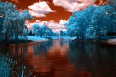 Parque, Crystal Lake, Illinois Imagens de Stock