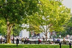Parque cuadrado de Washington Imágenes de archivo libres de regalías