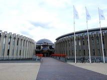 Parque da água da cidade de Druskininkai e hotel, Lituânia imagens de stock royalty free