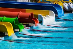 Parque da água das corrediças Foto de Stock Royalty Free