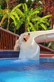 Parque da água no recurso Fotos de Stock Royalty Free