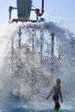 Parque da água, respingo Fotos de Stock