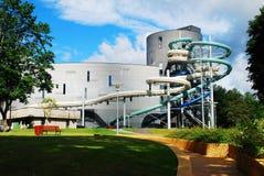 Parque da atração da água na cidade dos termas de Druskininkai fotos de stock royalty free