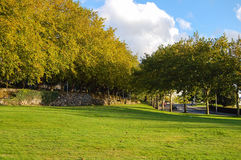 Parque DA Avda de Burgo das Nacions - Santiago de Compostela Imagen de archivo libre de regalías