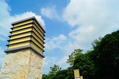 Parque da baía de Shenzhen da arquitetura paisagística Fotos de Stock Royalty Free