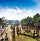 Parque da Buda em Vientiane, Laos Marco famoso do turista do curso foto de stock