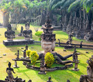 Parque da Buda em Vientiane, Laos Marco famoso do turista do curso Imagem de Stock