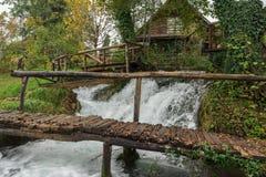Parque da cachoeira de Slunj Foto de Stock