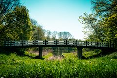 Parque da cidade, bos de Amsterdamse, Bosbaan fotografia de stock
