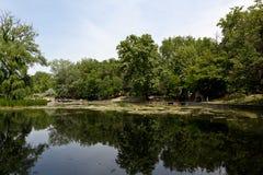 Parque da cidade de Varosliget, Budapest, Hungria Imagem de Stock Royalty Free