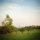 Parque da cidade do outono Fotos de Stock