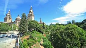 Parque da cidade do verão de Palau Nacional vídeos de arquivo