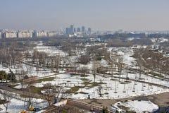 Parque da cidade durante o inverno Imagens de Stock