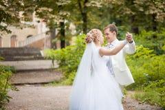 Parque da dança do casamento fotografia de stock