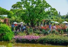 Parque da flor em Ashikaga, Japão fotografia de stock royalty free