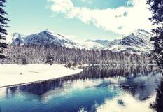 Parque da geleira no inverno imagem de stock