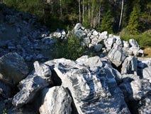 Parque da montanha de Ruskeala, Carélia Rússia foto de stock