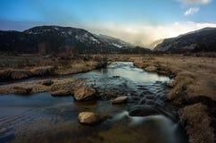 Parque da moraine em Rocky Mountain National Park, Colorado, EUA Fotografia de Stock Royalty Free