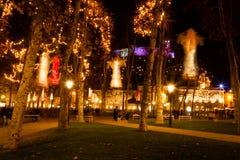Parque da noite Fotos de Stock