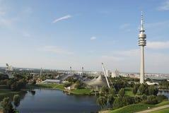 Parque da Olympia de Munich Fotografia de Stock
