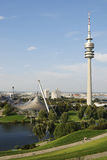 Parque da Olympia de Munich Foto de Stock
