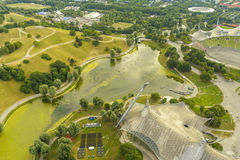 Parque da Olympia de Munich Imagem de Stock Royalty Free