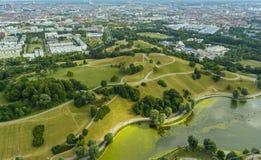 Parque da Olympia de Munich Fotografia de Stock Royalty Free