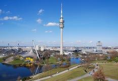 Parque da Olympia, Munich Fotografia de Stock