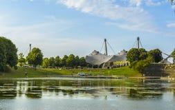 Parque da Olympia, Munich, Alemanha Imagens de Stock