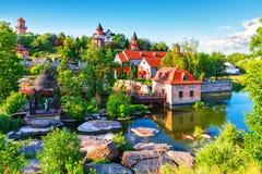 Parque da paisagem em Buky, Ucrânia Foto de Stock