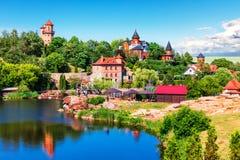 Parque da paisagem em Buky, Ucrânia Fotografia de Stock Royalty Free
