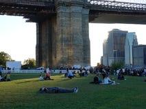 Parque 247 da ponte de Brooklyn Foto de Stock