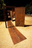 Parque da porta em Figueras fotografia de stock royalty free