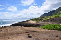 Parque da praia de Mokuleia, costa norte, Oahu Imagens de Stock Royalty Free