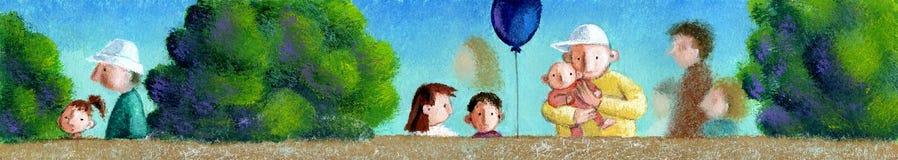 Parque das crianças ilustração royalty free