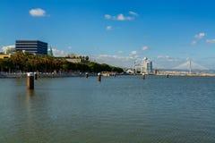 Parque das Nacoes在里斯本 库存照片