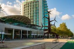 Parque das Nacoes в Лиссабоне стоковая фотография rf