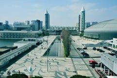 Parque das Nacoes en Lisboa, Portugal Imagen de archivo