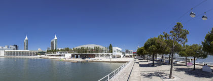 Parque das Nacoes/Park van Naties - Lissabon Stock Afbeeldingen