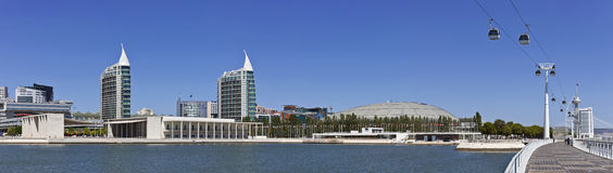 Parque das Nacoes/Park van Naties - Lissabon Royalty-vrije Stock Fotografie
