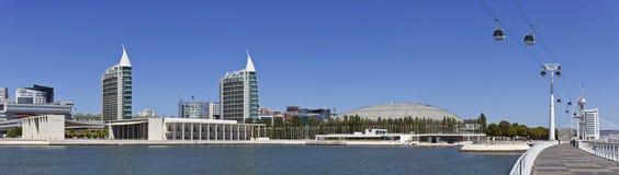 Parque das Nacoes/parkerar av nationer - Lissabon Royaltyfri Fotografi