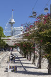 Parque das Nacoes/parkerar av nationer - Lissabon Royaltyfri Bild