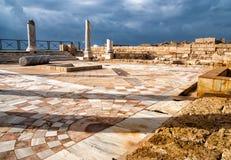 Parque das ruínas, Israel de Caesarea Imagens de Stock
