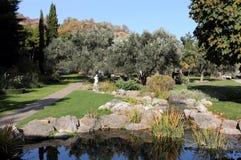 Parque de Aivazovsky em Partenite, Crimeia Fotografia de Stock Royalty Free