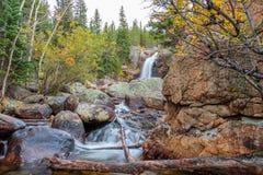 Parque de Alberta Falls Rocky Mountain National Fotografia de Stock