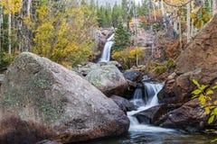 Parque de Alberta Falls Rocky Mountain National Imagens de Stock Royalty Free
