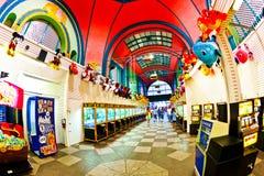 Parque de Amuesment en el embarcadero de acero Imagenes de archivo
